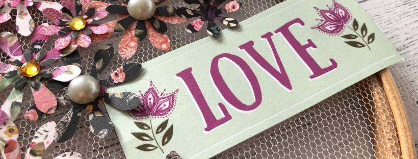 Tulle & Paper Embroidery Hoop DIY